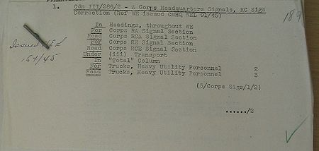 Corps Headquarters Signals WE III 286 2 - correction page 1.jpg